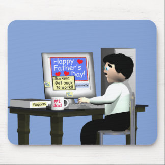 Happy Father's Day at the Office Mouse Mat