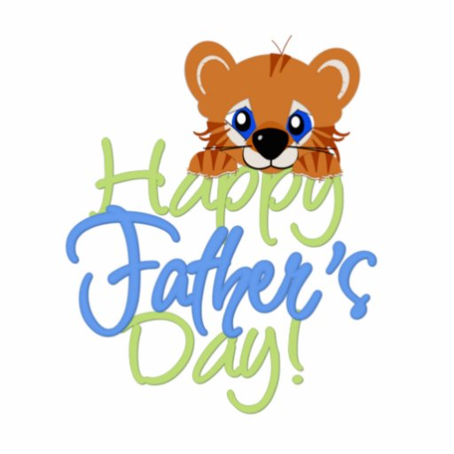 Happy Father's Day Baby TIger Cut Out