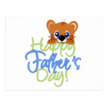 Happy Father's Day Baby TIger Postcards