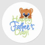 Happy Father's Day Baby TIger Sticker