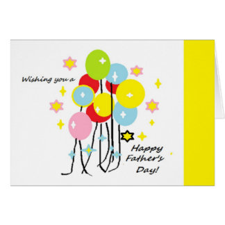Happy Father's Day Balloons and Stars Card