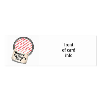 Happy Father's Day Banner Frame Business Card
