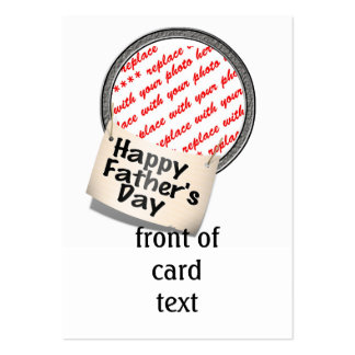 Happy Father's Day Banner Frame Business Card Templates
