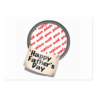 Happy Father's Day Banner Frame Business Cards