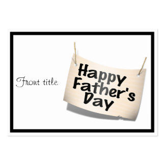 Happy Father's Day Banner (Text Design) Business Card Templates