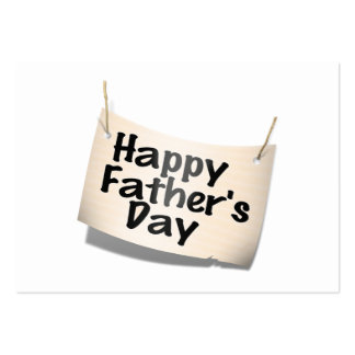 Happy Father's Day Banner (Text Design) Business Card