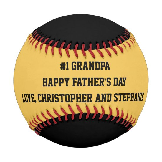 Happy Father's Day Baseball, #1 Grandpa, Custom Baseball