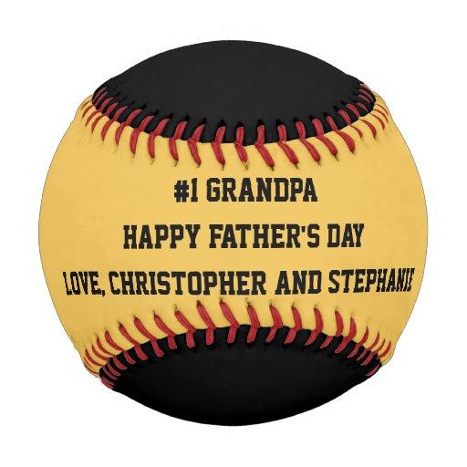 Happy Father's Day Baseball, #1 Grandpa, Custom Baseball ...