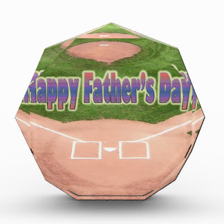 Happy Fathers Day Baseball Acrylic Award