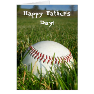Happy Father's Day Baseball greeting card