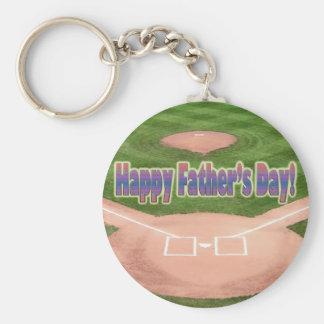 Happy Fathers Day Baseball Keychain