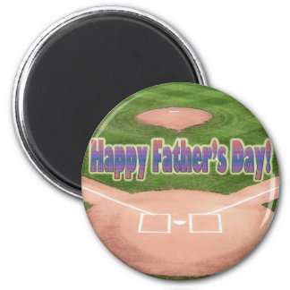 Happy Fathers Day Baseball Magnet