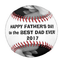 Happy Father's Day Baseball with Custom Pics
