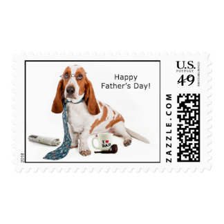 Happy Father's Day Basset Postage