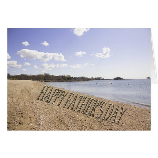 Happy Father's Day Beach Greeting Card