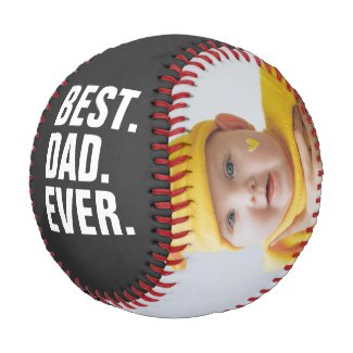 Happy Fathers Day Best Dad Ever Personalized Baseball