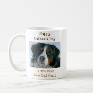 Happy Father's Day Best Dog Dad Photo Coffee Mug