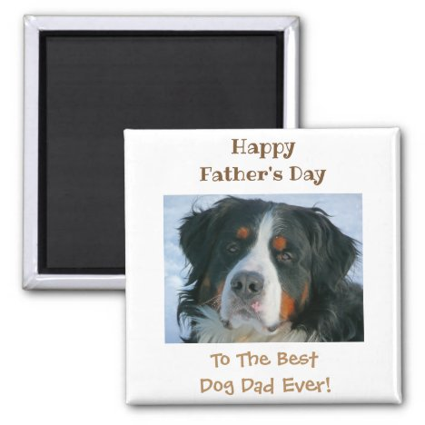 Happy Father's Day Best Dog Dad Photo Magnet
