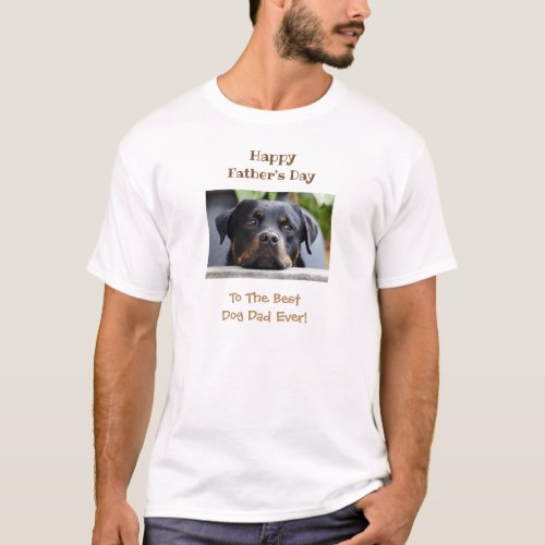 Happy Fathers Day Best Dog Dad Photo T_Shirt