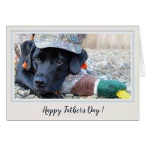 Happy Father's Day Black Labrador Cute Duck Dog -