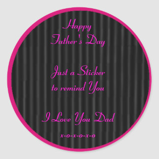 Happy Father's Day Black The MUSEUM Zazzle Gifts Classic Round Sticker