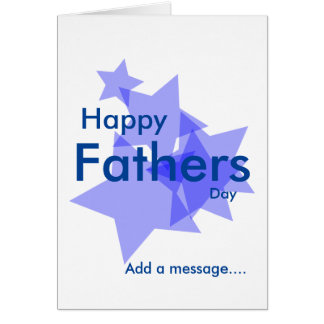 Happy fathers day blue stars add message card