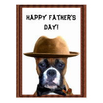 Happy Father's Day Boxer postcard