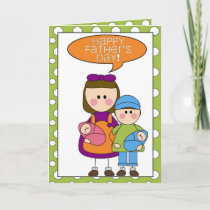 happy father's day (boy/girl/twins) card