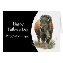 Happy Father's Day Brother-in-Law  Buffalo Bison Card