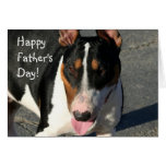 Happy Father's Day Bull Terrier greeting card