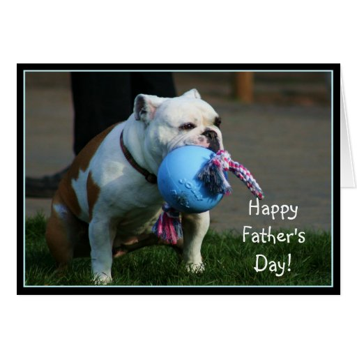 Happy Father's Day bulldog greeting card