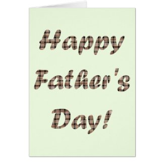 Happy Fathers Day Burlap Weave Greeting Cards