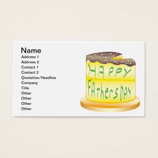 Happy Fathers Day Business Card
