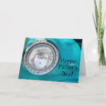 Happy Father's Day! Card - Turquoise vintage car detail is featured on this colorful Father's Day card.