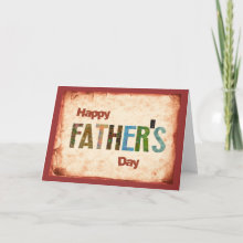 Happy Father's Day Card - A unique, rugged greeting card for your dad on his special day! Don't forget to buy the Matching Postage!