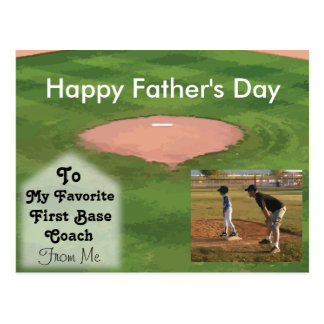 Happy Father's Day Card Baseball Theme