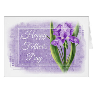 Happy Father's Day Card - Purple Iris d2