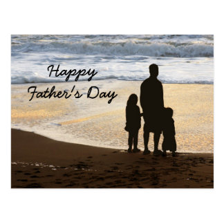 Happy Father's Day Card Template Postcard