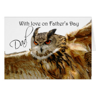 Happy Father's Day Card with Eagle Owl