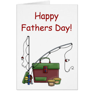 Fathers day fishing cards zazzle for Father s day fishing card