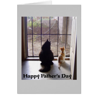 Happy Fathers Day Cat And Kitten Card