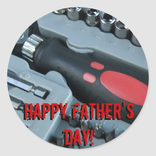 Happy Father's Day! Classic Round Sticker