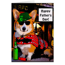 Happy Father's Day Corgi Card