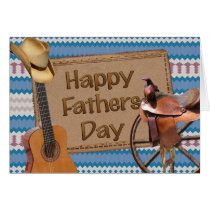 Happy Fathers Day Cowboy Card