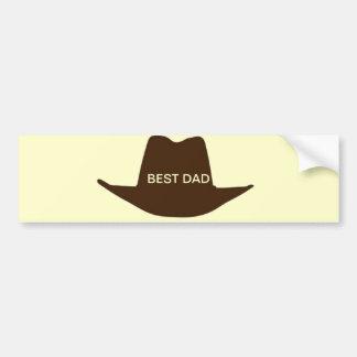 Happy Fathers Day Cowboy Dad Bumper Sticker