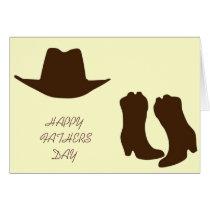 Happy Fathers Day Cowboy Dad Card