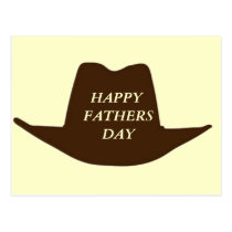 Happy Fathers Day Cowboy Dad Postcard