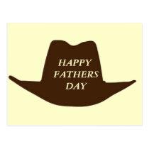 Happy Fathers Day Cowboy Dad Postcard