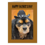 Happy Father's Day Cowboy Dog Card