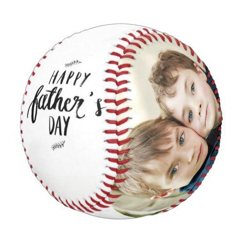 Happy Fathers Day Custom Family Photos Baseball